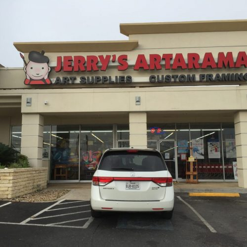 Exterior Picture of Jerry's Artarama Art Supply Store in San Antonio, TX