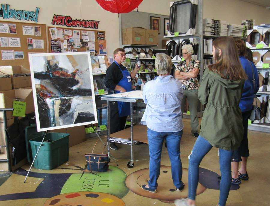 Picture Of An Art Demo Class Workshop At Jerrys Artarama Raleigh