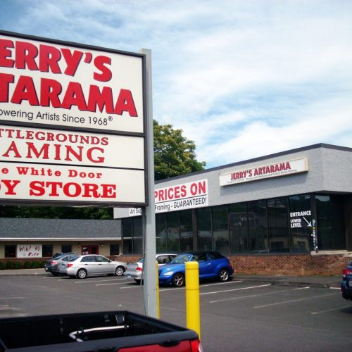 Picture of the Outside of Jerry's Artarama Art Supply Store in Norwalk, CT