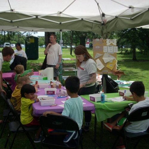 A Kids' Art Class outside of Jerry's Artarama of Norwalk, CT
