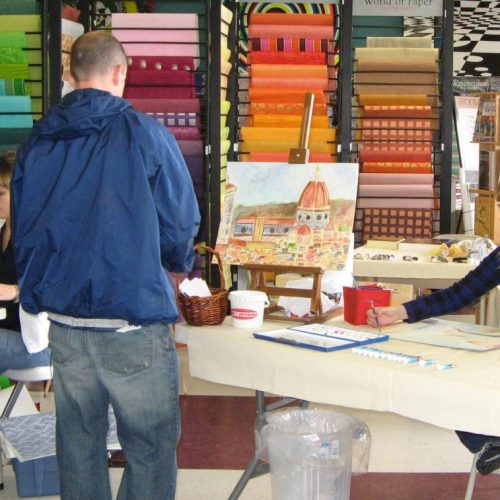 A Watercolor Painting Class at Jerry's Artarama in Nashville, TN