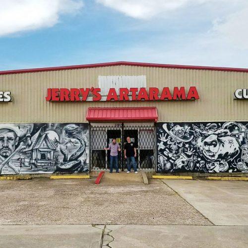 The Exterior of Jerry's Artarama Art Supply Store in Houston, TX