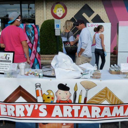 A Painting Workshop outside Jerry's Artarama of Lawrenceville, NJ
