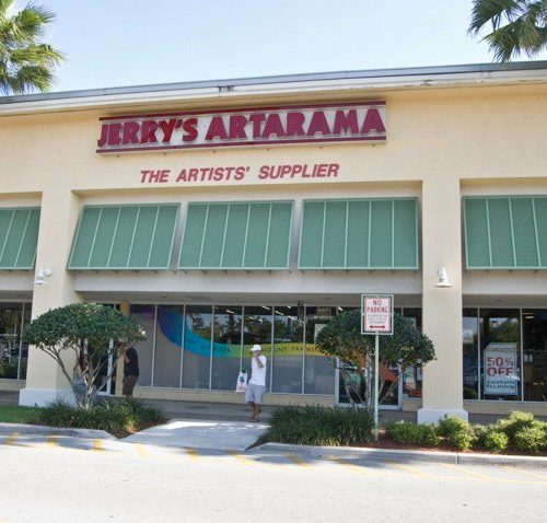 The Exterior of Jerry's Artarama Art Supply Store of Deerfield Beach, FL