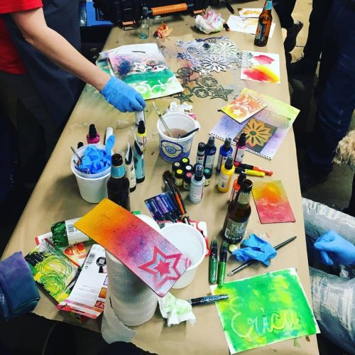 A Kids' Painting Class at Jerry's NY Central in New York, NY