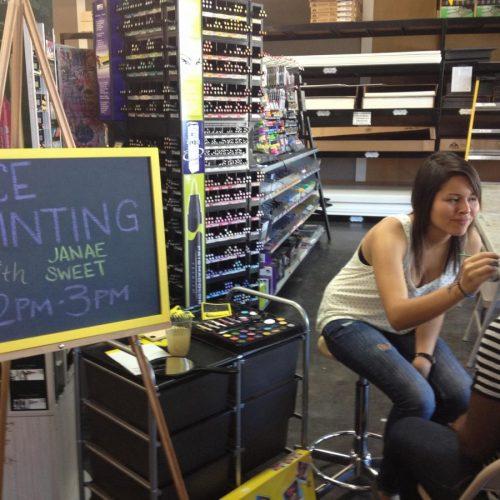 Face Painting Workshop at Jerry's Artarama of Deerfield Beach, FL
