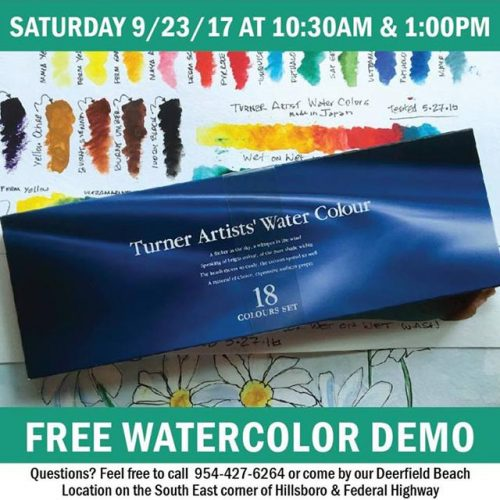 Free Watercolor Demo at Jerry's Artarama of Deerfield Beach, FL Promo Picture