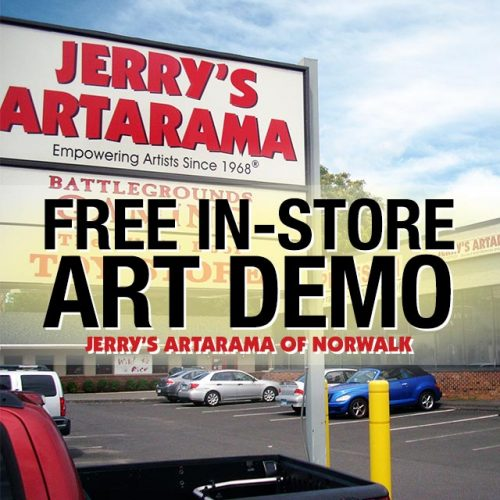 Free In-Store Art Demo at Jerry's Artarama of Norwalk, CT Promo Picture