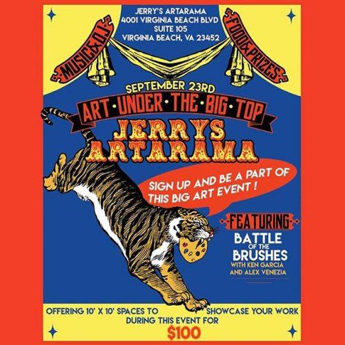 Art Under the Big Top at Jerry's Artarama of Virginia Beach, VA Promo Picture