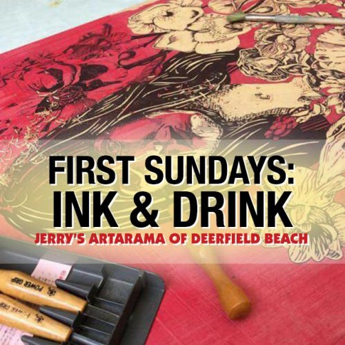 First Sundays: Ink & Drink at Jerry's Artarama of Deefield Beach, FL Promo Picture
