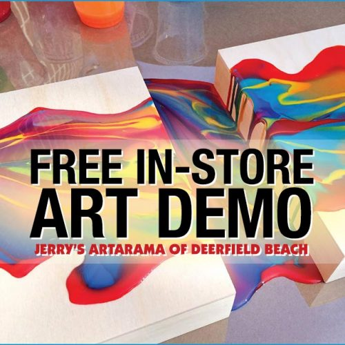 Free In-Store Art Demo at Jerry's Artarama of Deerfield Beach, FL Promo Image