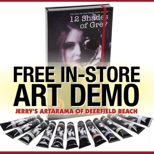 Free Demo of 12 Shades of Grey Paint Sets at Jerry's Artarama of Deerfield Beach, FL Promo Picture