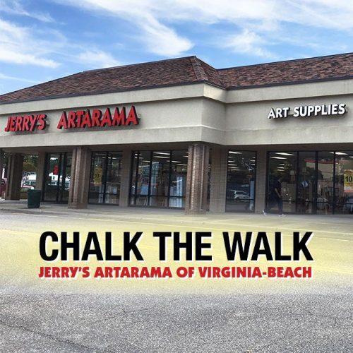 Chalk the Walk at Jerry's Artarama of Virginia Beach, VA Promo Picture