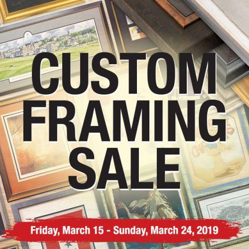 Custom Framing on Sale