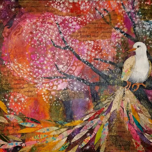 July 27 – Intuitive Painting & Collage: Botanical Whimsy with Winged, Feathered or Furry Friends with Susan Miller