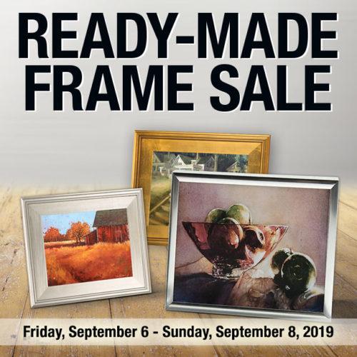 September Savings on Ready-Made Frames