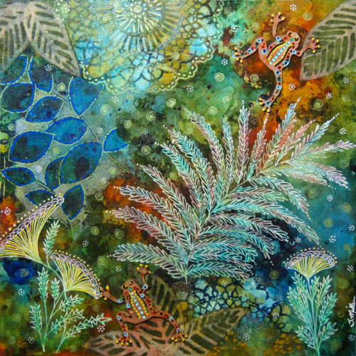 Sept 29 – Lost and Found in Nature: Letting Intuition Lead the Way in Abstract Mixed Media Painting/Collage with Susan Miller