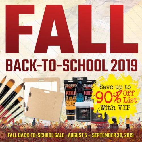 Fall Back-to-School Sale
