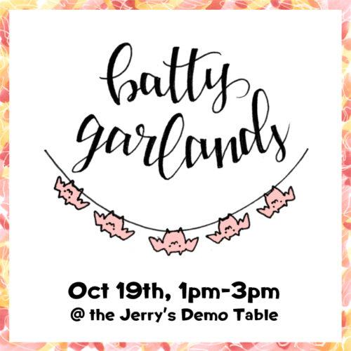 Oct 19 – Batty Garlands