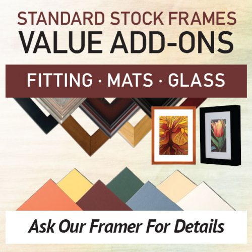 Value Add-Ons: Standard Stock Frames