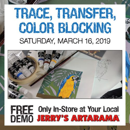 Free! Trace, Transfer, Color Blocking Demo