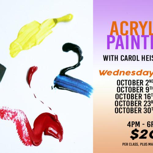 Beginner Painting Workshop | Carol Heischober