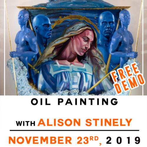 Free! Demo ● Oil Painting ● Alison Stinely