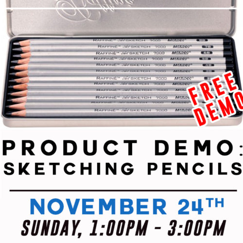 Free Product Demo: Sketching Pencils!