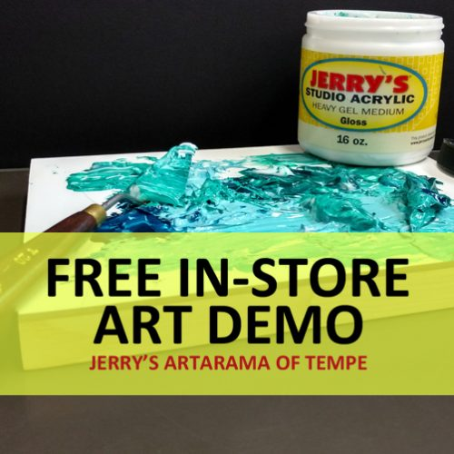 Jerry's Studio Acrylic Mediums with Pearl Ex Powdered Pigments and Stencils