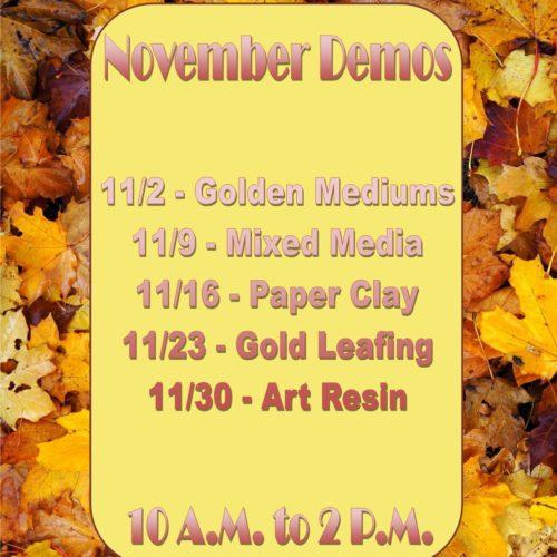 November Demos