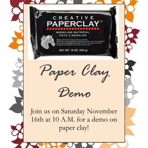 Paper Clay Demo
