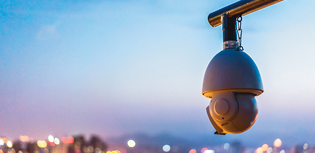 Cctv Camera With Modern Building