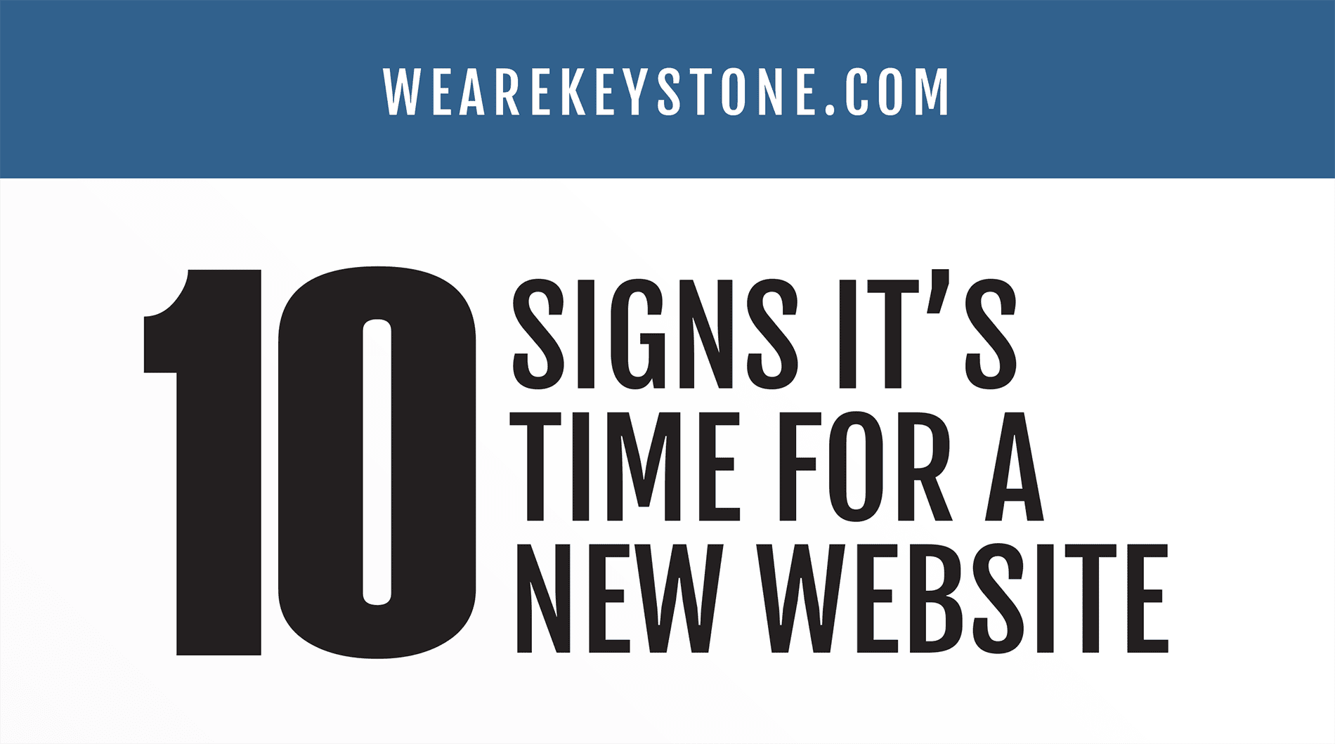 signs it's time for new website