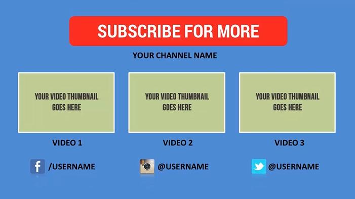 Jual 25 Youtube Outro Clips yang gempak