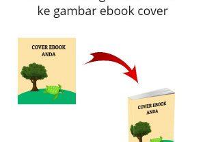 Servis tukar gambar biasa ke cover ebook