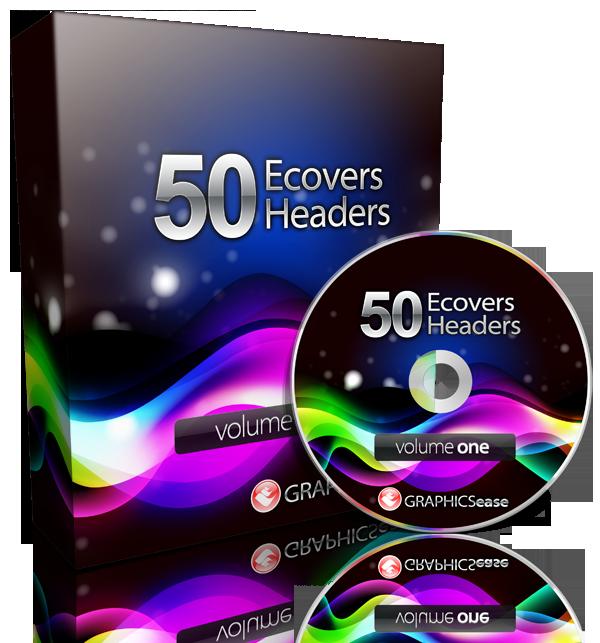 Jual 50 ecovers & headers design package beserta lesen jual semula