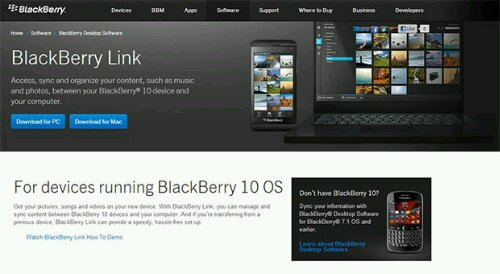 BlackBerry Link Updated Today For Both Windows and Mac