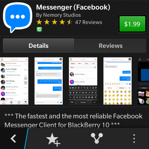 Messenger (Facebook) from Nemory Studios updated - Many new