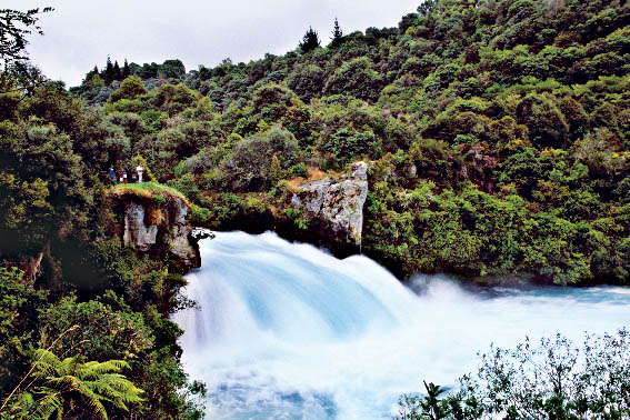 The Huka Falls In The Taupo Environs