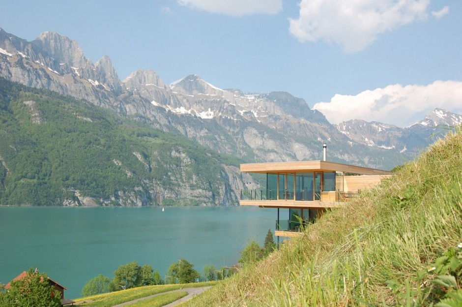The Walensee House by K_M Architektur