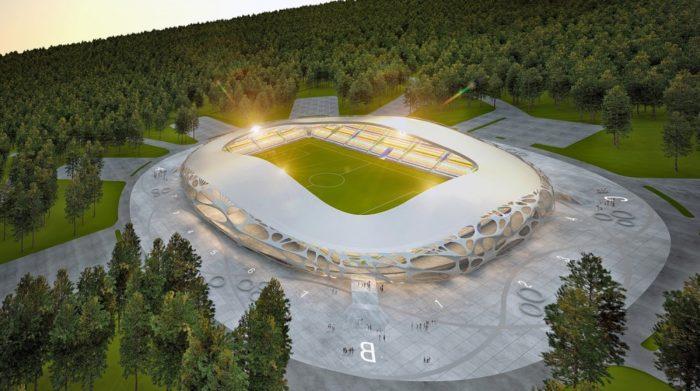 Huge FC Bate Borisov Stadium by OFIS Arhitekti