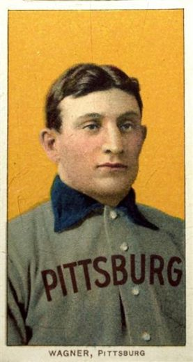 The legendary T206 Honus Wagner baseball trading card