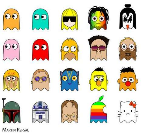Pac-Manned Pop Culture Icons