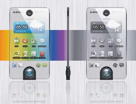 Power-Saving Transparent Phones