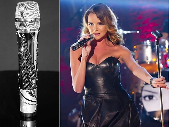 Swarovski Microphone by CrystalRoc for Nadine Coyle