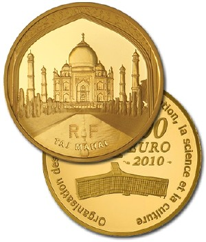 The Taj Mahal Gold Coin for $3,299