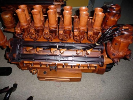 Wooden Ferrari 365 Engine for Sale