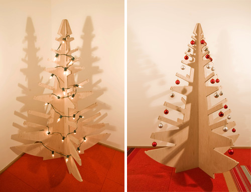 Plywood Christmas Tree for Modern Spaces 1