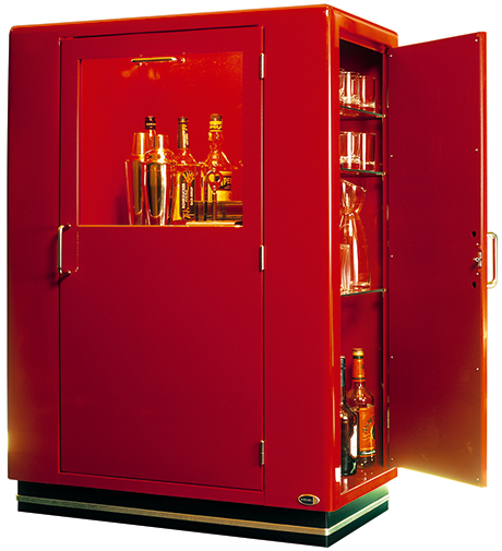 Wine Bar Cabinet With Refrigerator