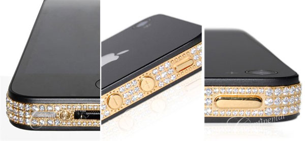 Continental Mobiles iPhone 4 24k Classic Gold and Diamonds 1